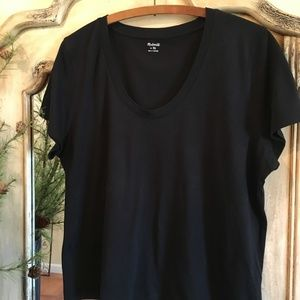Madewell Whisper Cotton Tee, Black, XL